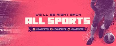 Twitch Banner Design Maker for Soccer Games Streamers 3664d