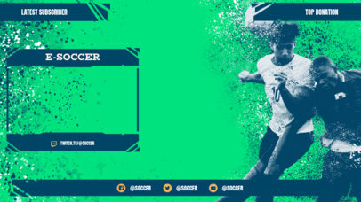 Twitch Overlay Design Creator for a Soccer-Themed Channel 3664f