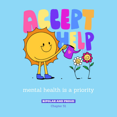 Podcast Cover Design Template for an Episode About Mental Health Featuring a Sun Graphic 4332d