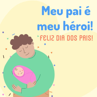 Father's Day Instagram Post Maker with a Quote in Portuguese 3666d