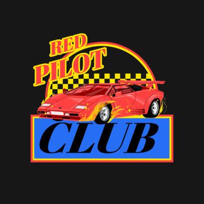Online Logo Maker Featuring a Classic Racing Car 4336a