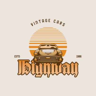 Automotive Logo Template with a Vintage Car Theme 4342b