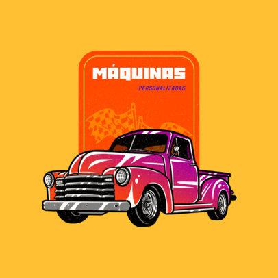 Online Logo Maker for a Classic Car Garage Featuring a Vintage Truck 4338d
