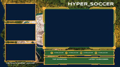OBS Stream Overlay Generator for Soccer Streamers Featuring Colored Frames 3665a