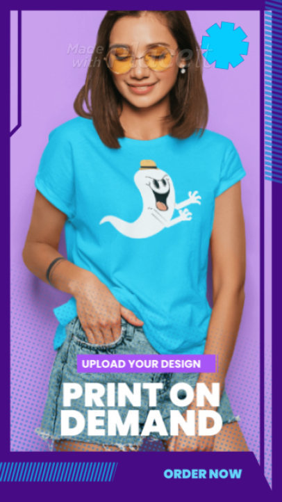 Instagram Story Video Template for a Custom Apparel Business Ad 2546b 3474 el1