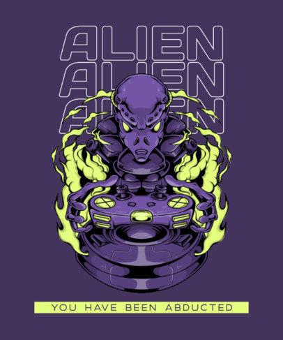T-Shirt Design Maker Featuring Illustrated Extraterrestrial Creatures 3959-el1