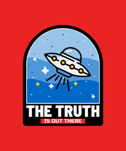 Bold T-Shirt Design Template with a UFO Day Theme 3965d-el1