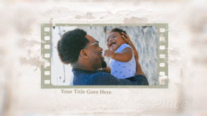 Photo Slideshow Video Generator With a Father's Day Theme 2968-el1