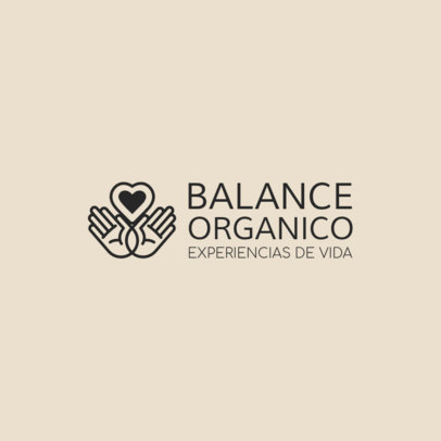 Logo Template for Organic Brands Featuring a Hands Graphic 4354b