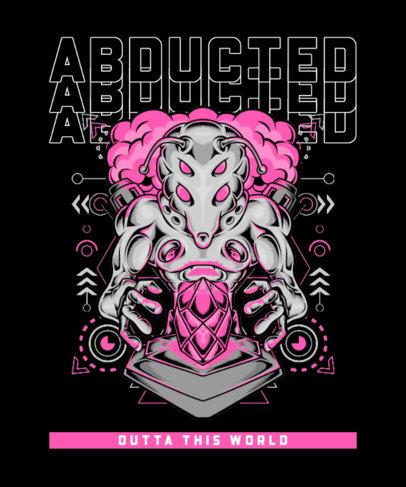 T-Shirt Design Creator with an Evil Alien Character 3959c-el1