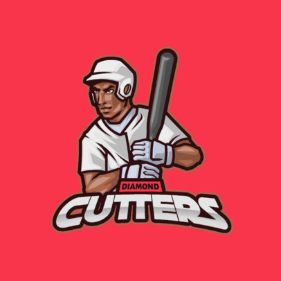 Sports Logo Maker Featuring a Baseball Player Graphic 3975d-el1