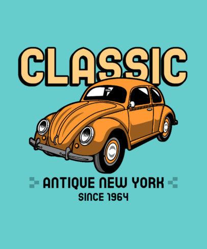 T-Shirt Design Maker Featuring a Classic Beetle Car 3679a