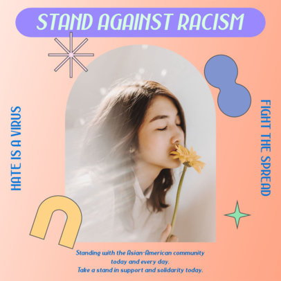 Instagram Post Generator With Pictures and a Quote Against Asian Hate 3702a