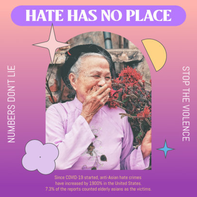 Instagram Post Design Maker With a Powerful Message Against Asian Hate 3702c