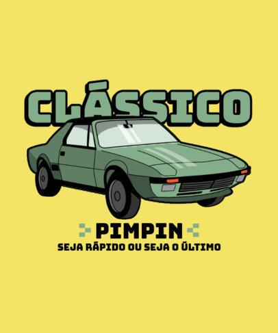 T-Shirt Design Creator with a Classic Racing Car Illustration 3679d