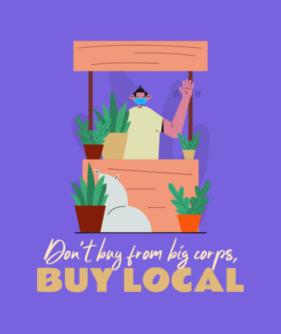 Tote Bag Design Template With a Buy-Local Theme 3693d