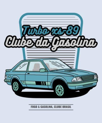 Retro T-Shirt Design Template for a Classic Cars Club 3681e