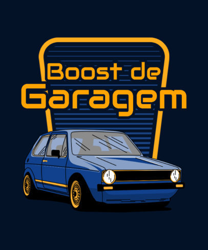 T-Shirt Design Generator with a Retro Compact Car Graphic 3681g
