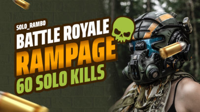 YouTube Thumbnail Template With a Battle Royale Gaming Theme 3947a-el1