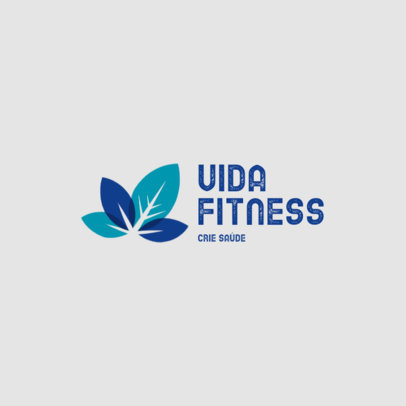 Logo Maker With a Fitness Theme Featuring Botanical Graphics 4354g