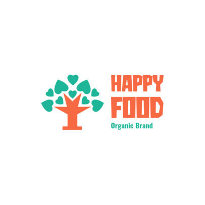 Logo Template for Organic Food Brands Featuring a Tree Icon 4354k