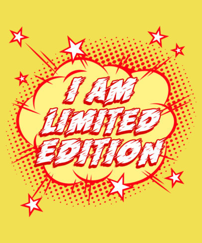Sassy T-Shirt Design Creator with an Explosive Comic Book-Inspired Graphic 3461c
