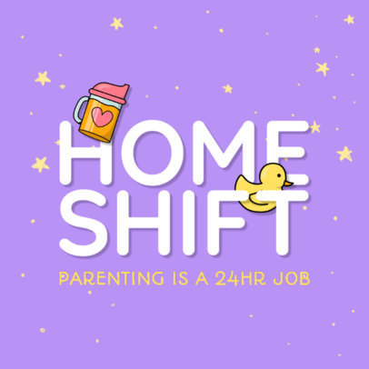 Logo Maker for a Podcast Discussing Parenthood and Family 4361o
