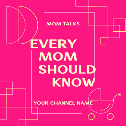 Podcast Cover Design With a Motherhood Theme 4363c