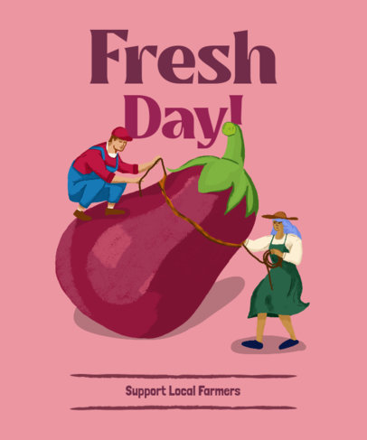 T-Shirt Design Creator with a Fun Graphic for Local Farmers 3694f