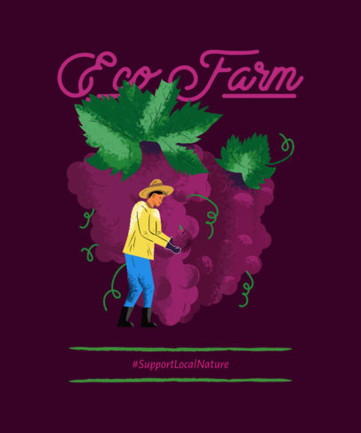 T-Shirt Design Maker Supporting Ecological Farms 3694e