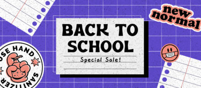 Facebook Cover Design Template with a Back to School Theme 3729