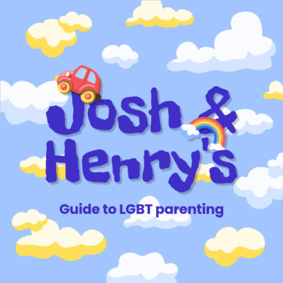 Logo Maker for a Podcast About LGBT Parenting 4361b