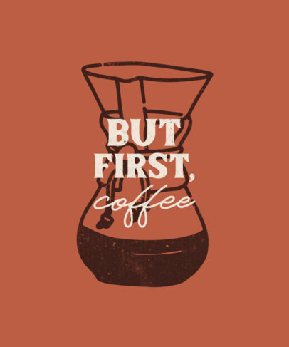 Quote T-Shirt Design Template for Coffee Enthusiasts 4004-el1