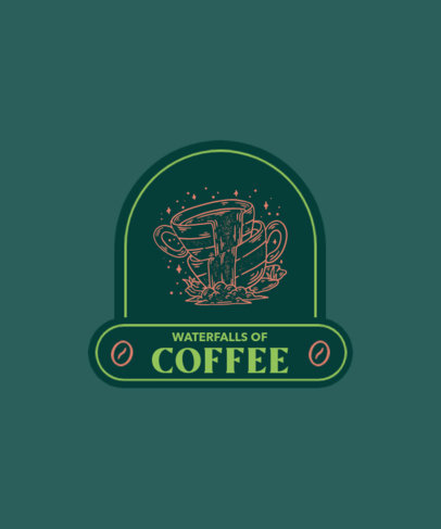 T-Shirt Design Template with Vintage Coffee Emblems 4002-el1