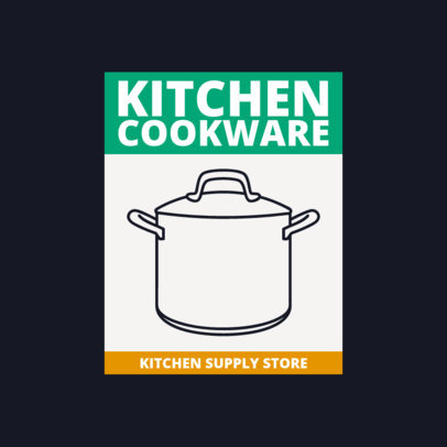Cool Logo Template for a Kitchenware Supply Store 3988D-el1