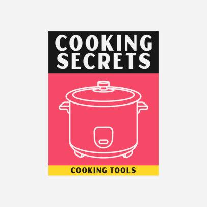 Cooking Tools Logo Creator with a Pot Line-Art Graphic 3988c-el1