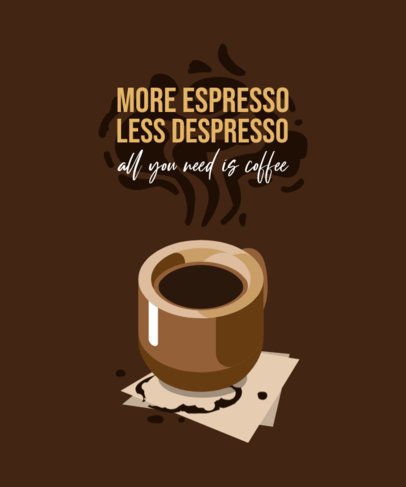 T-Shirt Design Generator with a Fun Coffee-Themed Quote 4006c-el1