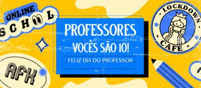 Back to School-Themed Facebook Cover Template with Portuguese Text 3729c