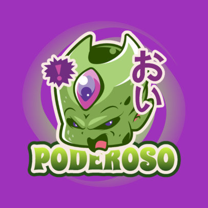 Gaming Logo Maker with a Graphic Inspired by a Dragon Ball Villain 4376d