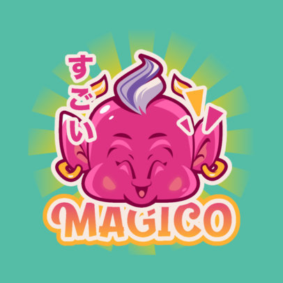 Dragon Ball-Inspired Logo Creator with a Character Face Graphic 4376e