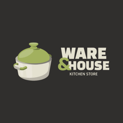 Logo Maker for an Online Kitchenware Store with a Pot Graphic 3984d-el1