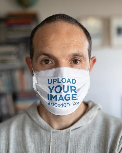 Face Mask Mockup Featuring a Close-Up of a Man 41938-r-el2