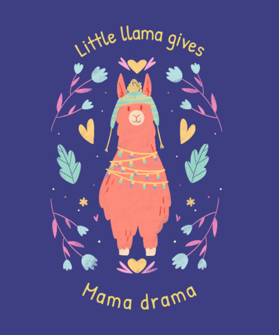 T-Shirt Design Generator With a Quote and a Llama Illustration 3716b