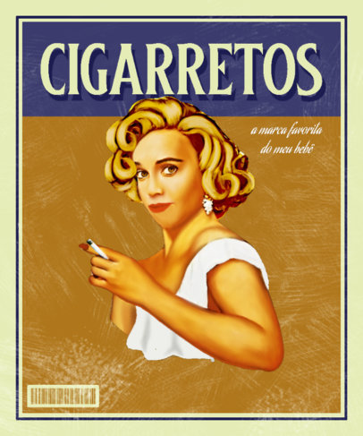 Illustrated T-Shirt Design Maker Inspired by an Old Cigarettes Ad 3722b