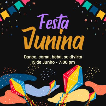 Instagram Post Template for a Traditional Festa Junina Celebration 3714a