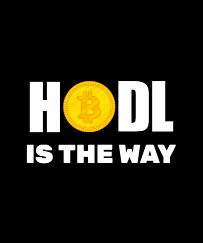 Quote T-Shirt Design Generator With a Cryptocurrency-Themed Graphic 3737e