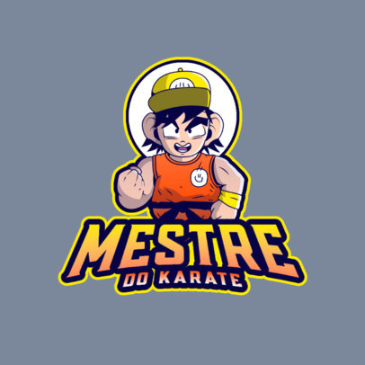 Gaming Logo Creator Featuring a Fighter Character Inspired by Dragon Ball 4378B