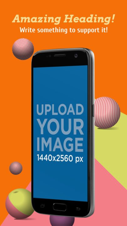 Portrait Position Floating Samsung Galaxy Android Screenshot Generator 1325a