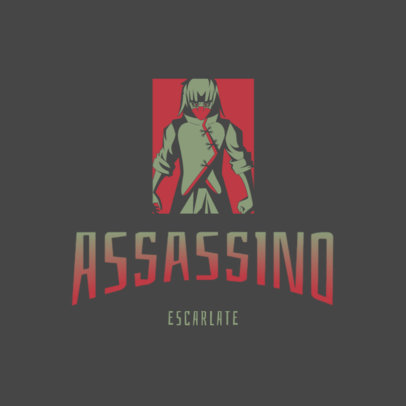 Logo Generator Featuring an Anime Assassin Inspired by Naruto 4373j