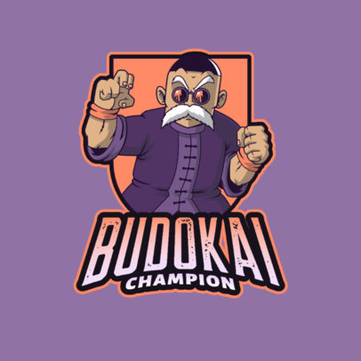 Dragon Ball-Inspired Logo Creator with a Character Inspired by Master Roshi 4378i